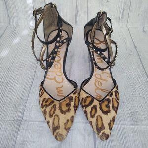 Sam Edelman animal print heels size 9